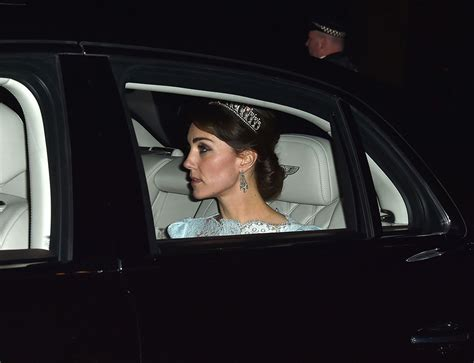 kate middleton stuns in cambridge love knot tiara at diplomatic duchess kate wears one of princess diana s favourite