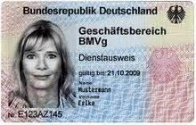 german identity card template dienstausweis