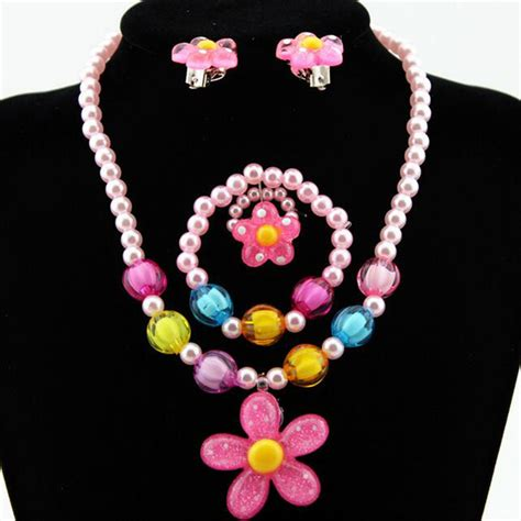 resin plastic jewelry set for children