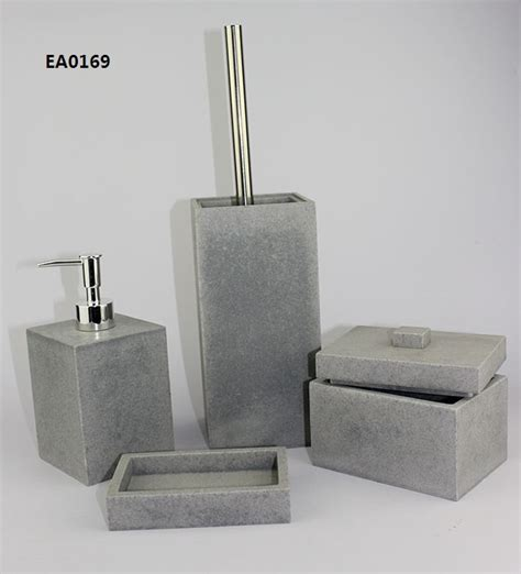 resin bathroom accessories set shenzhen hongying arts and