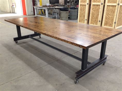 Industrial Conference Table Custom Made The Glenn Industrial Conference Table By Iron Age Office Custommade