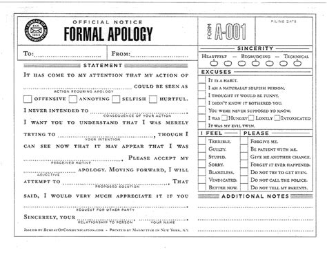 Apology Letter Husband The Lovely Simulacrum Formal Apology Template A Must For Any Dutiful Husband