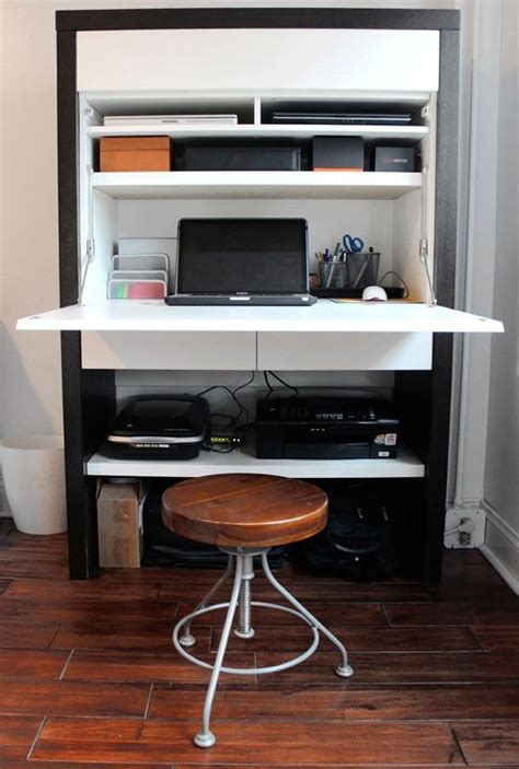 Small Office Desk Solutions 12 Tech Helpers For Teeny Tiny Offices Tiny Office Offices And Desks