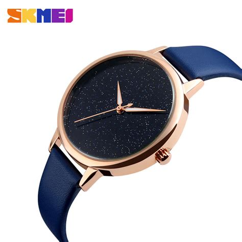 Jam Tangan Wanita 1713 Bkue skmei jam tangan analog wanita 9141cl blue