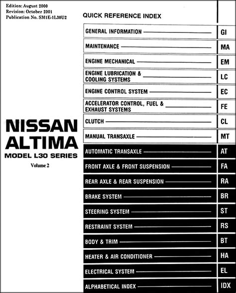 service manual how to fix 2001 nissan altima engine rpm going up and down 2001 nissan altima