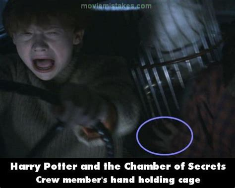 harry potter and the chamber of secrets mistake