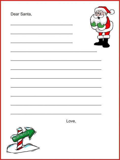 20 free printable letters to santa templates dear santa