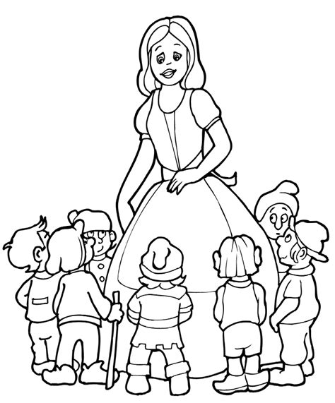 Coloring Pages Snow White And The Seven Dwarfs Snow White And The Seven Dwarfs Coloring Page by Coloring Pages Snow White And The Seven Dwarfs