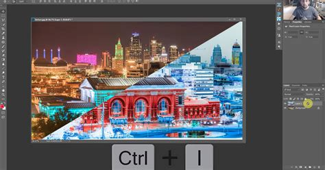 invert color photoshop inverting your photo in photoshop for color correction