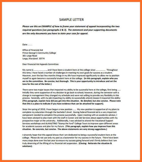 Financial Aid Appeal Letter Many Hours Sap Appeal Letter Sle Soap Format