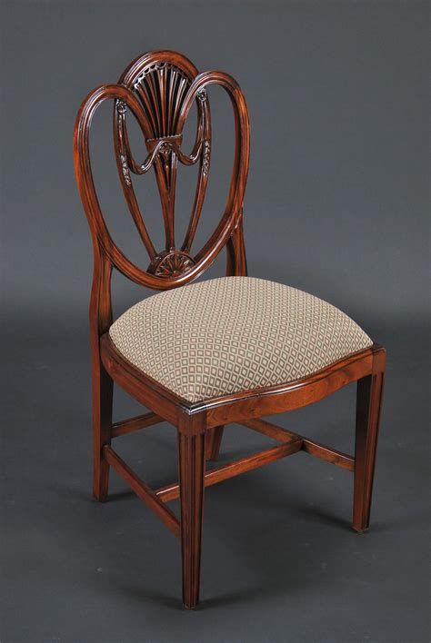 Shield Back Dining Room Chairs Swag Sweetheart Shield Back Dining Room Chairs Solid Mahogany