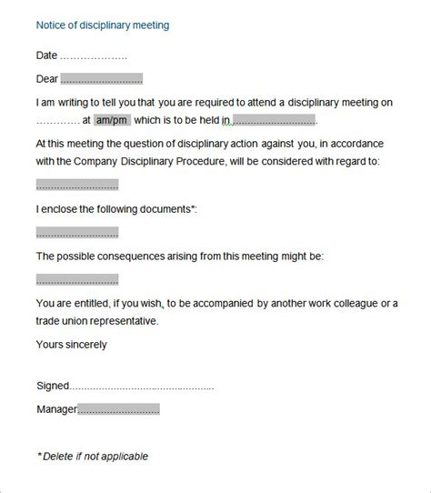 disciplinary meeting minutes template disciplinary meeting minutes template 28 images every