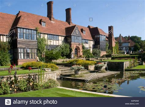 buy house woking the canal and manor house rhs wisley gardens woking surrey stock photo royalty