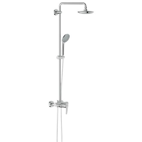grohe euphoria grohe euphoria wall mounted shower system shower arm 450 mm 27473000 reuter shop