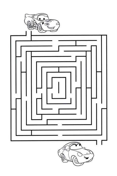 printable car maze funny and instructive kids cars games like puzzles and mazes