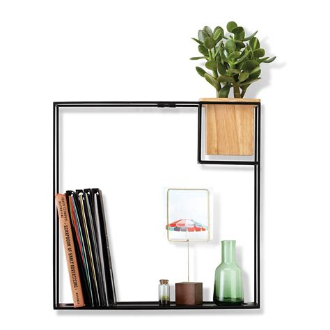 Buy Wall Shelves Buy Umbra Cubist Wall Shelf Beech Black Large