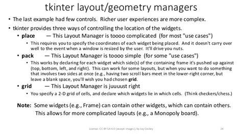 layout manager tkinter intro to python high school unit 3