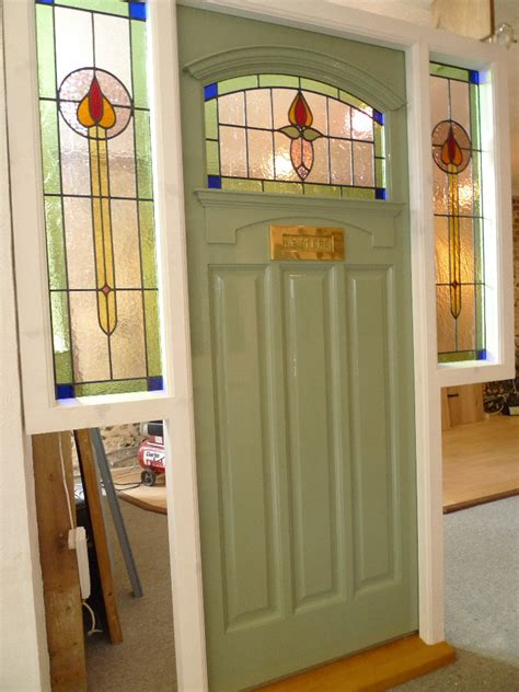 1930s Front Door 1930 S Stained Glass Front Door Complete With Frame Stained Glass Doors Company