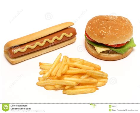 dogs and fries hamburger and fries royalty free stock photography image 262617