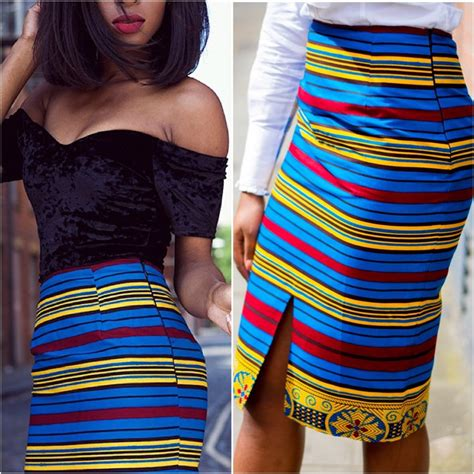 african pencil skirt styles african clothing african pencil skirt african print by laviye