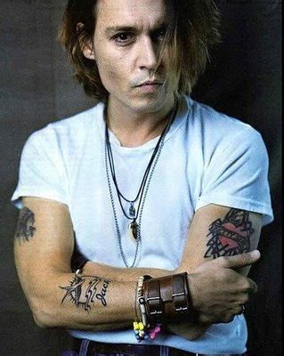 johnny depp tattoo skull and crossbones johnny depp tattoos all star tattoos