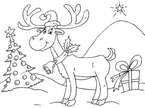 imagenes de navidad para colorear renos reno de navidad para imprimir paracolorear net