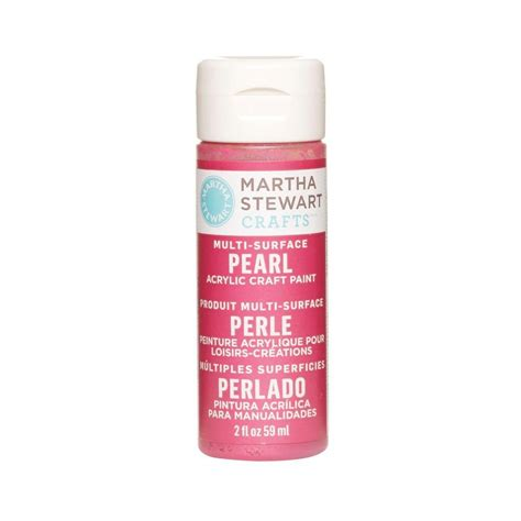 martha stewart crafts 2 oz fruit punch multi surface pearl acrylic craft paint 32115 the home