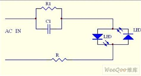 simple capacitor led circuit the simplest capacitor step dirve led circuit led and light circuit circuit diagram