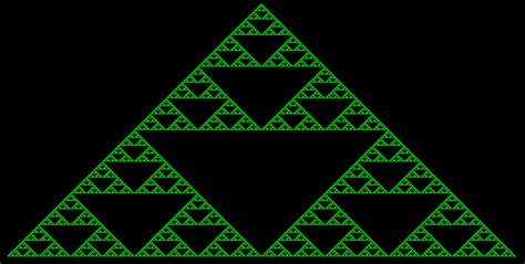 triangle pattern in unix sierpinski triangle fractal the easies c articles