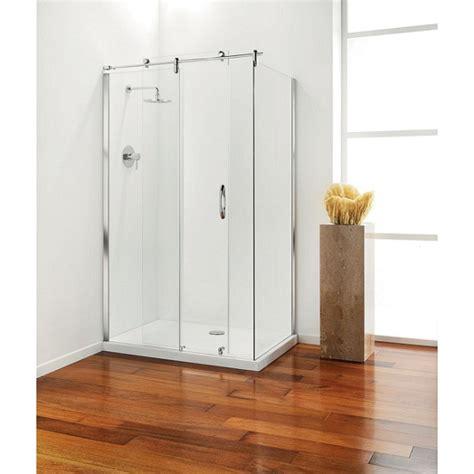 Plain Glass Door Premier Frameless Sliding Door 1200mm Plain Glass Chrome