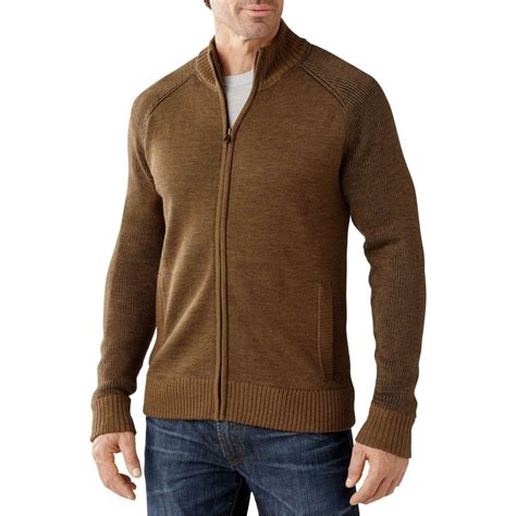 Sweater The One Wisata Fashion Shop 1 mens zippered wool sweaters bronze cardigan