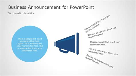 Business Announcement Template For Powerpoint Slidemodel Free Email Announcement Template