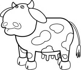 Cow Drawing Outline by Cow Outline Clip At Clker Vector Clip
