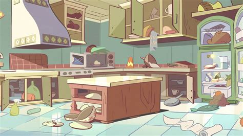 kitchen cartoon image s2e4 diaz household messy kitchenpng star vs the