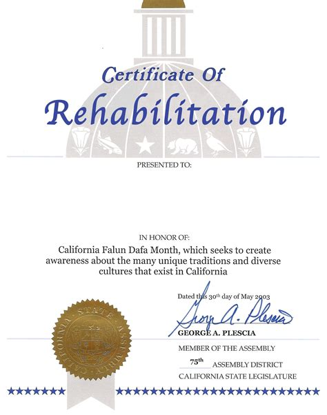 Does Vista San Diego A Detox Program by How To Get A Quot Certificate Of Rehabilitation Quot In California