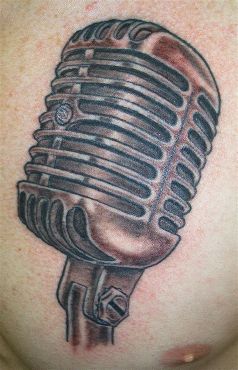vintage microphone tattoo designs 1071px