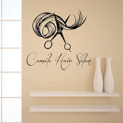 hair studio names wall decals custom logo hair beauty salon vinyl sticker