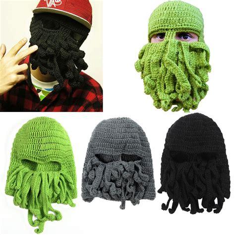 cthulhu knit mask octopus cthulhu knit beanie hat cap winter wind