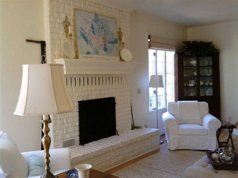 White Painted Fireplaces by White Painted Brick Fireplace A B I D E
