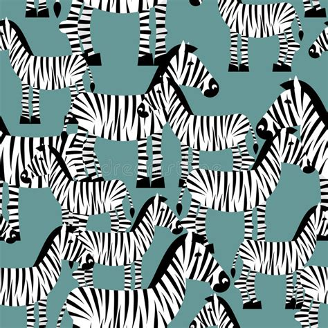 zebra pattern ornament zebra seamless pattern savannah animal ornament wild