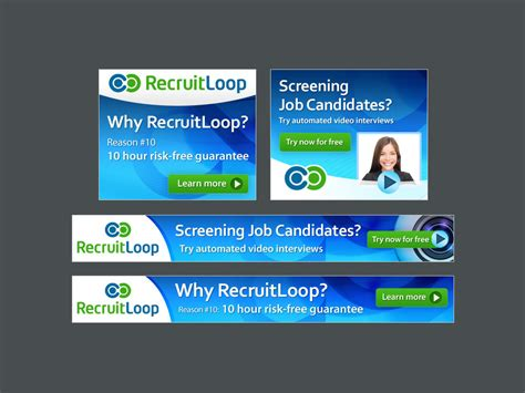 design of banner ads remarketing ads for online recruitment business banner