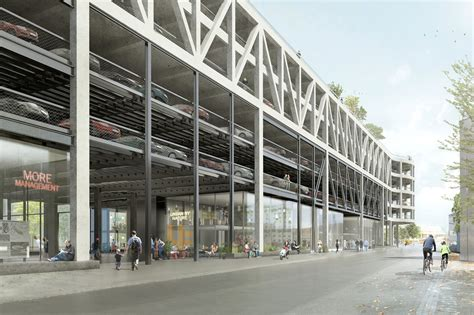 design center parking hhf architects transform existing parking structure into