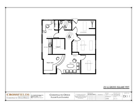 floor plan design chiropractic office floor plans