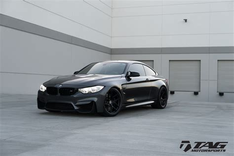 bmw black bmw m4 with hre r101 lw wheels in satin black bmw