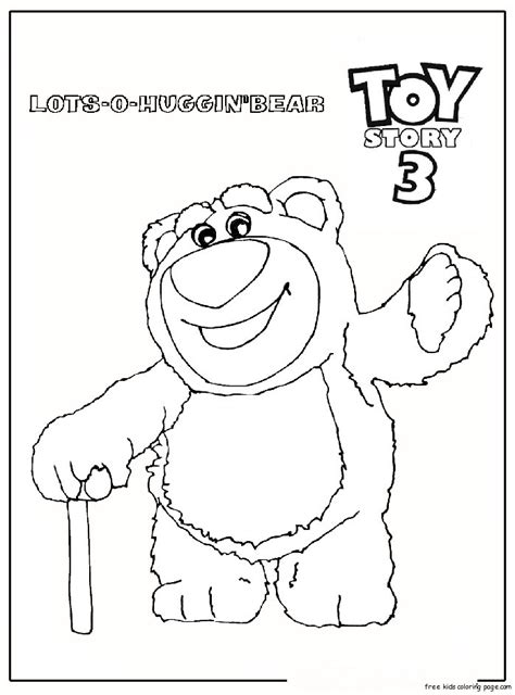 huggin bear toy story 3 free printable coloring pages