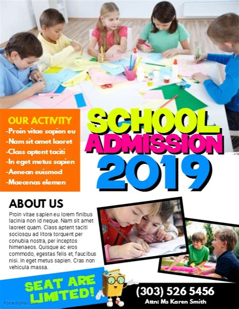 School Admission Flyer Template Postermywall School Board Caign Flyer Template