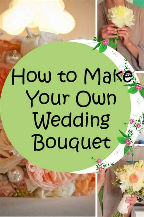 how to make your own how to make your own wedding bouquet colorful lovely