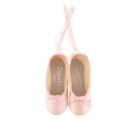 miniature ballet shoes tops pale pink repetto