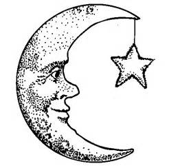 free coloring pages moon star