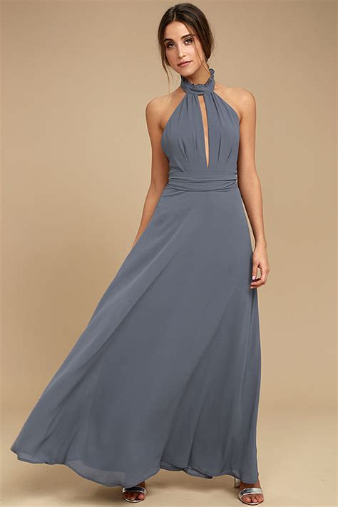 aida maxi blue denim stunning denim blue maxi dress halter maxi backless